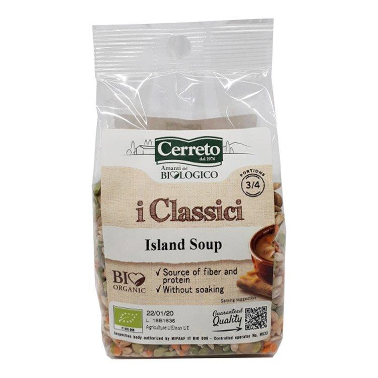 Organic Sicilian 'Island Soup' Mix with Peas, Beans & Lentils 250g