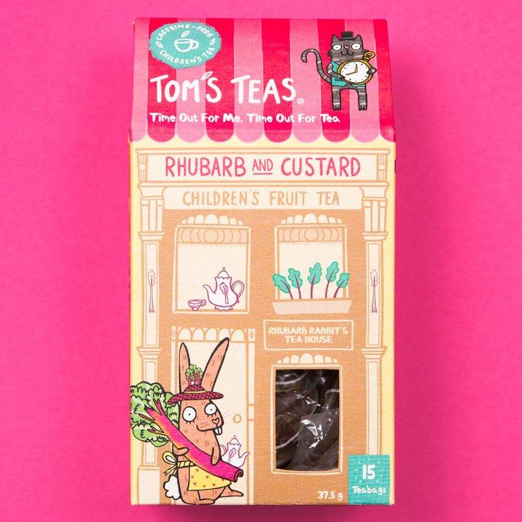 Rhubarb & Custard Children's Fruit Tea with Rooibos 15 Tea Bags