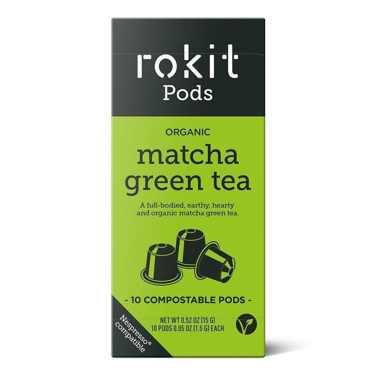 10 Organic Matcha Green Tea Nespresso Compatible Pod Capsules