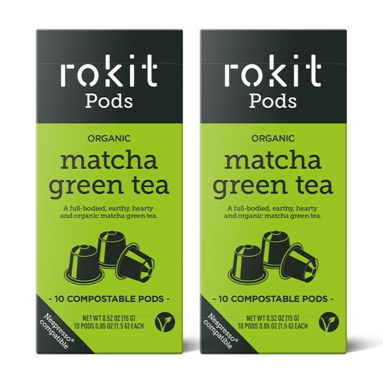 20 Organic Matcha Green Tea Nespresso Compatible Pod Capsules