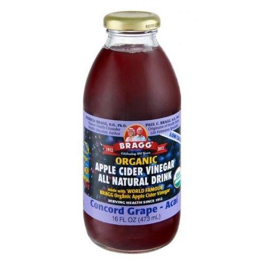 Bragg Organic Apple Cider Vinegar Concord Grape & Acai Drink 473ml