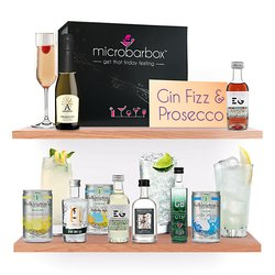 Gin Fizz & Prosecco Cocktail Gift Box with Sipsmith, Bombay Sapphire, Edinburgh & Anno Gins