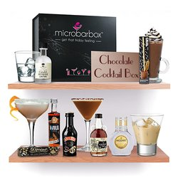 'Chocoholic' Chocolate Cocktail Kit Gift Box With Chocolate Chilli Moonshine, Vodka & Liqueurs