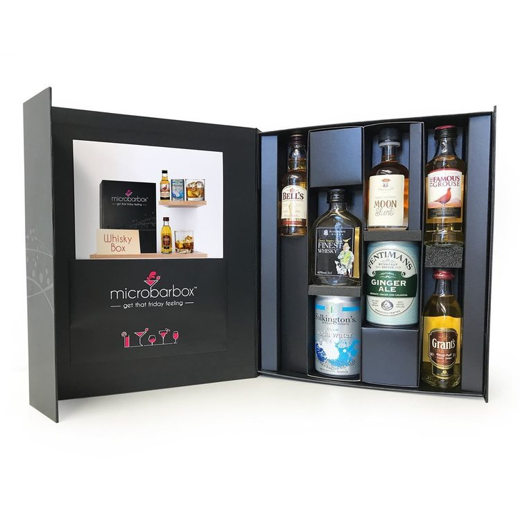 Whisky Gift Box With 4 Whiskies & Mixers (Inc. Famous Grouse, Jack Daniel's & More)
