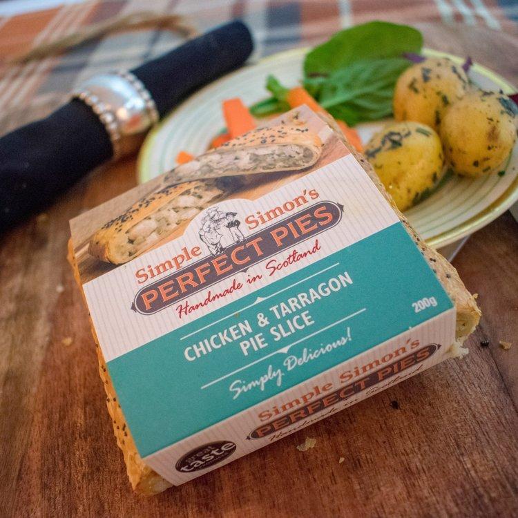 4 x Chicken & Tarragon Puff Pastry Pie Slice (4 x 200g)