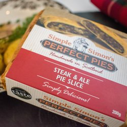 4 x Scottish Steak & Dark Island Ale Puff Pastry Pie Slice (4 x 200g)