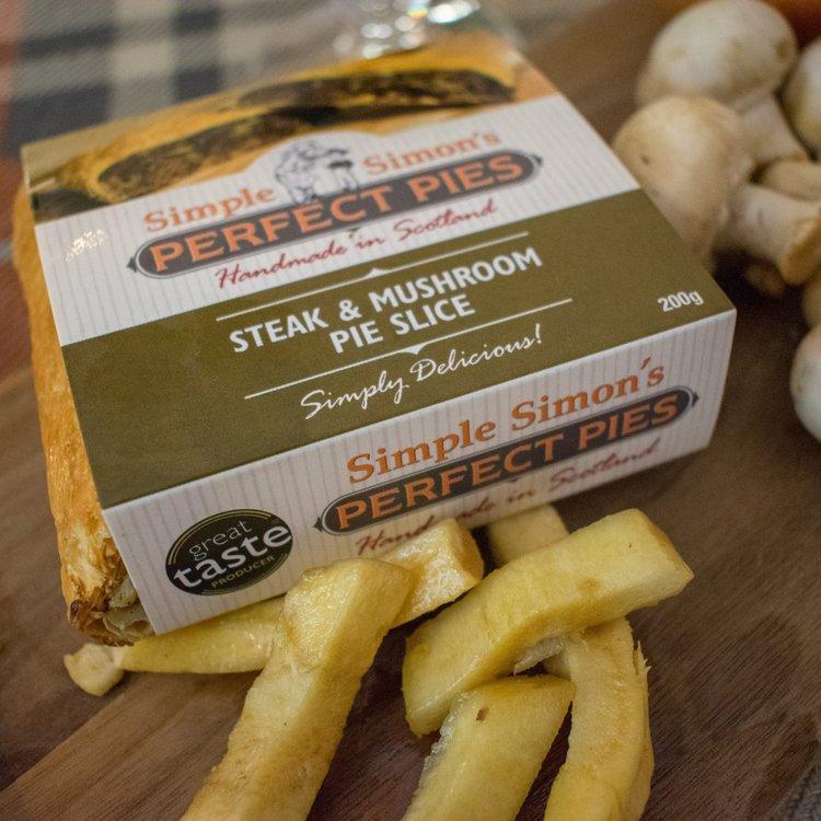 4 x Steak & Mushroom Puff Pastry Pie Slice (4 x 200g)