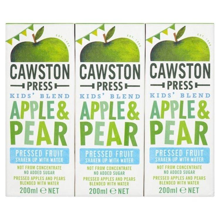 Cawston press kids blend apple pear 3 x 200ml 1