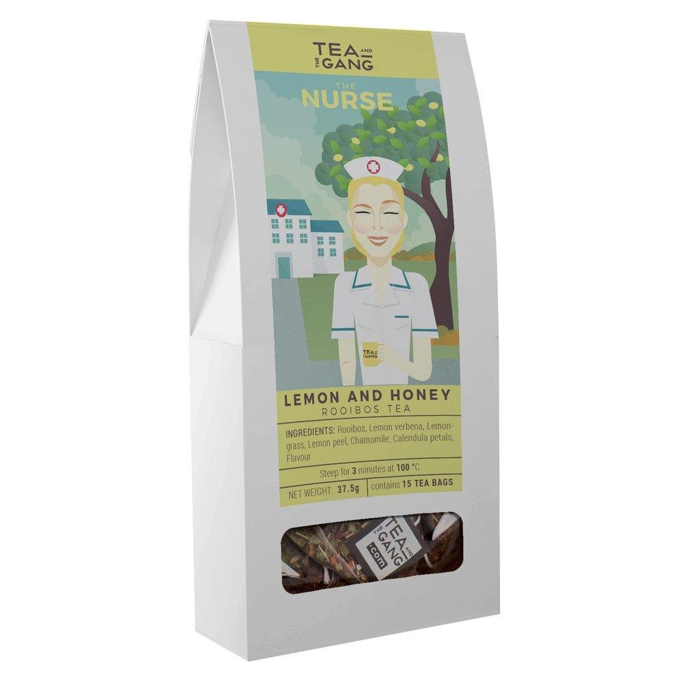 Tea and the gang 'The Nurse' Lemon & Honey Rooibos Tea 15 Tea Bags