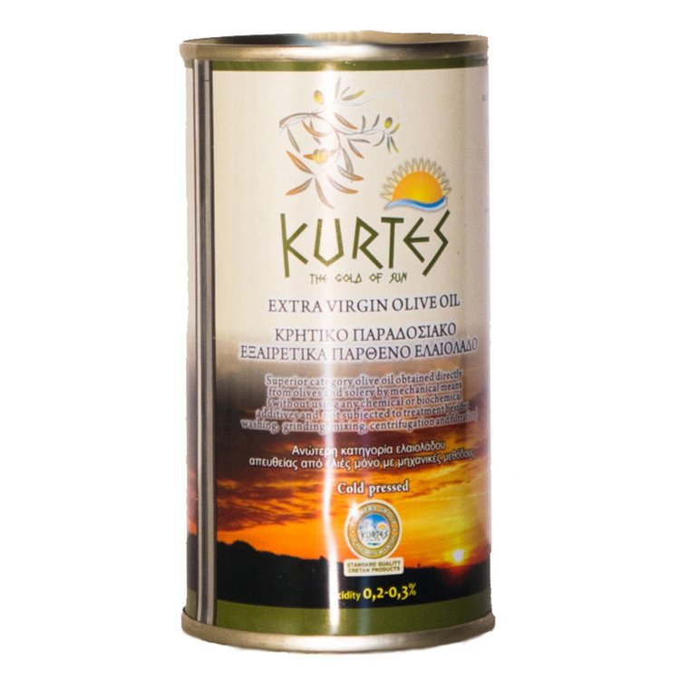 Cretan Cold-Pressed Extra Virgin Olive Oil Tin 250ml