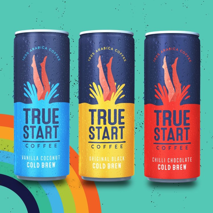 3 Cold Brew Arabica Coffee Can Taster Pack with Flavoured & Original Black (3 x 250ml)