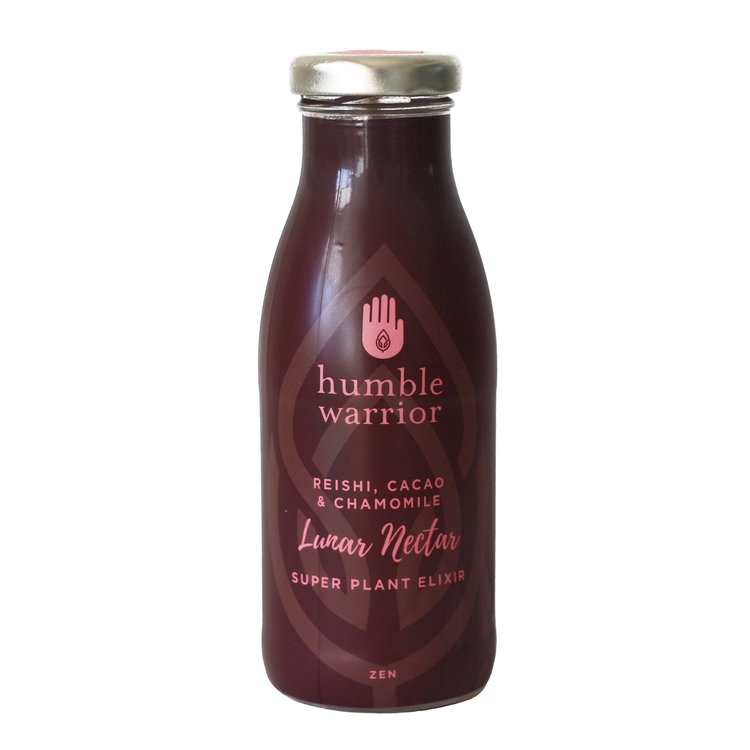 12 Organic 'Lunar Nectar' Water & Plant Extract Elixir Drink with Reishi, Cacao & Chamomile (12 x 250ml Bottles)