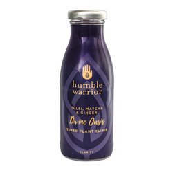12 Organic 'Divine Oasis' Water & Plant Extract Elixir Drink with Tulsi, Matcha Tea & Ginger (12 x 250ml Bottles)