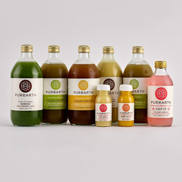 1 Day Seasonal Broth Organic Body Cleanse Inc. Superfood Drinks, Juices, Nut Mylk & Water Kefir
