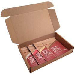 Sample Box of Whey Protein Isolate Powders Inc. Chocolate, Strawberry, Vanilla & Unflavoured