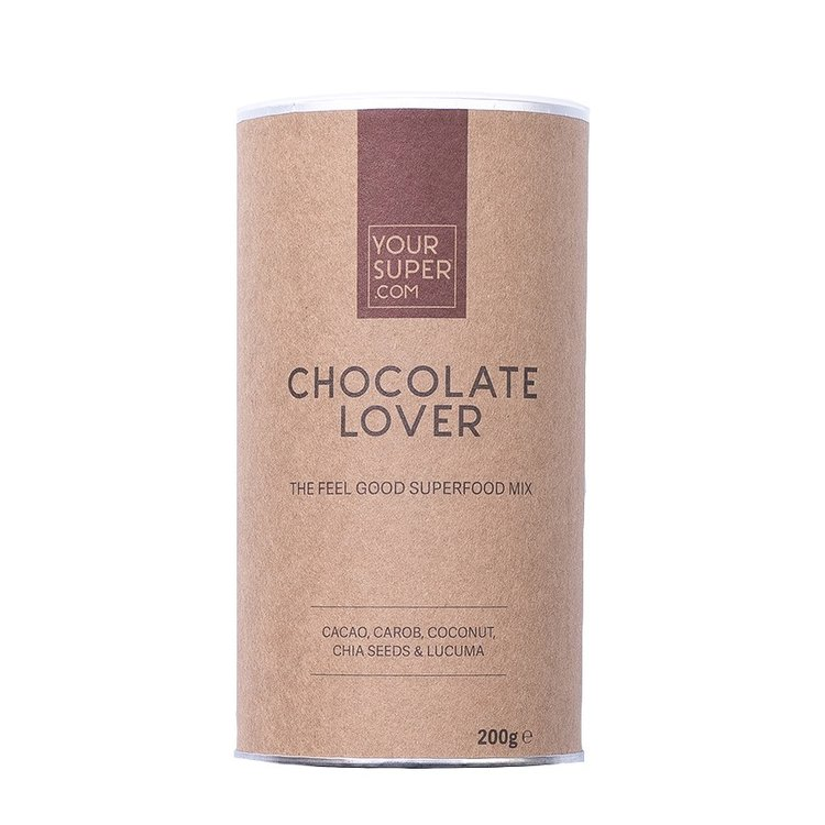 Organic 'Chocolate Lover' Superfood Mix Powder Inc. Cacao, Carob, Coconut, Chia & Lucuma