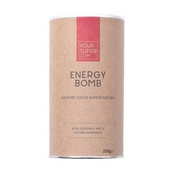 Organic 'Energy Bomb' Superfood Mix Powder Inc. Guarana, Acai, Maca, Lucuma & Banana
