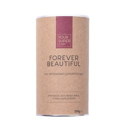 Organic 'Forever Beautiful' Superfood Skin Mix Powder Inc. Chia Seeds, Acai & Maca