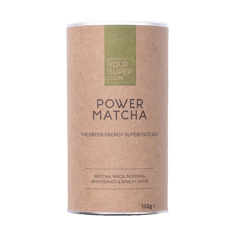 Organic 'Power Matcha' Superfood Mix Powder Inc. Matcha Green Tea, Moringa & Wheatgrass