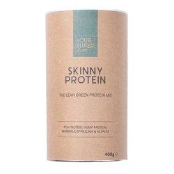 Organic 'Skinny Protein' 62% Protein Powder Inc. Pea & Hemp Protein, Moringa & Spirulina 400g