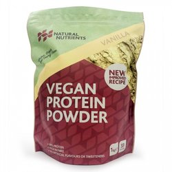 1kg Vanilla Vegan Plant-Based Protein Powder Inc. Pea, Brown Rice & Faba Bean Protein