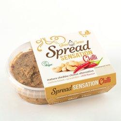Cashew Nut Spreadable Vegan Cheese with Chilli 'Spread Sensation' Mature Cheddar Alternative 150g