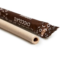 20 Chocolate Flavour Edible Drinking Straws
