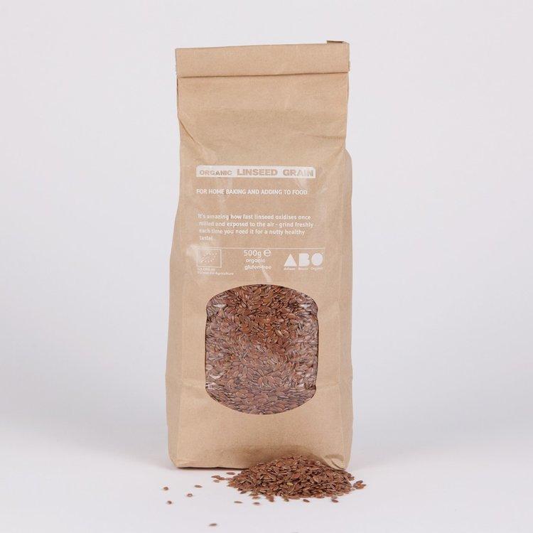 4 x Organic Linseed Grain 500g