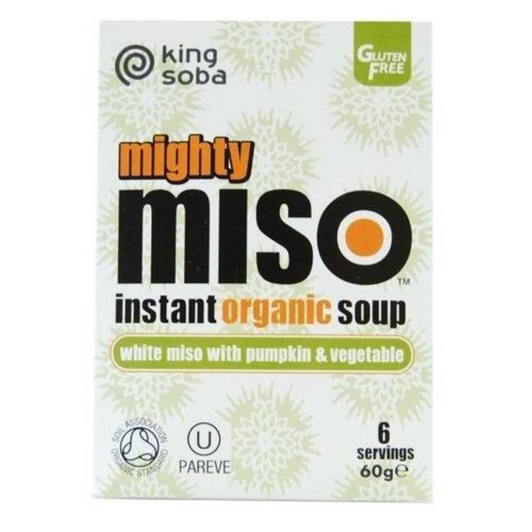 King soba organic mighty miso pumpkin vegetable 60g
