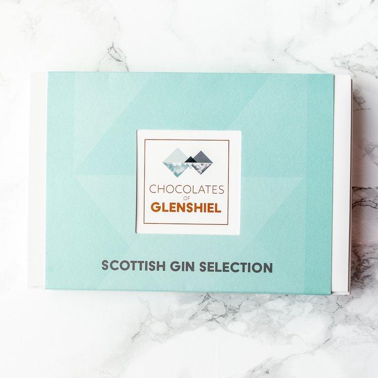 Scottish Gin Infused Chocolate Gift Box With 15 Chocolates (Handmade)