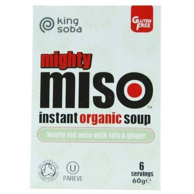 King soba mighty miso soup with tofu and ginger 60g