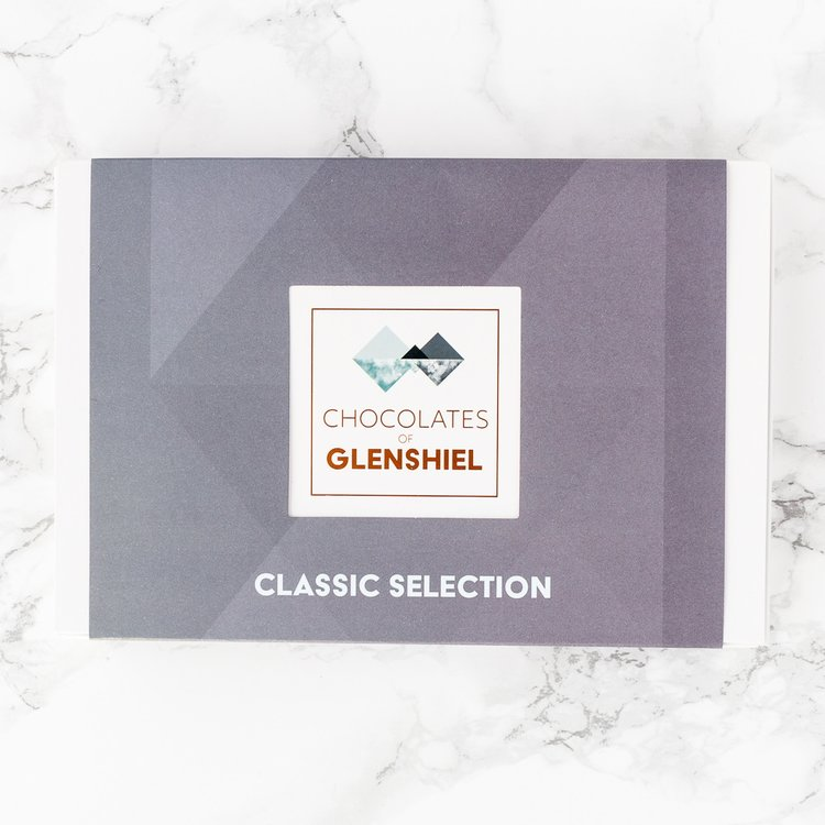 'Classic' Selection Scottish Infused Chocolates Gift Box with Scottish Sea Salt, Honey & Coffee