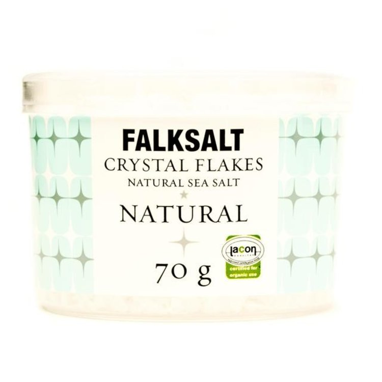 Falksalt natural sea salt crystal flakes 70g