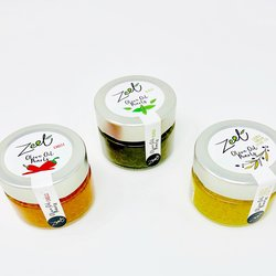 3 Extra Virgin Olive Oil 'Caviar' Pearls Inc. Chilli & Basil Olive Oil (3 x 50g)