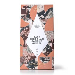 Dark Chocolate Coated Candied Ginger Dragee 125g
