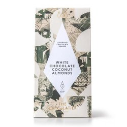White Chocolate Coated Almonds with Coconut Powder Dragee 125g