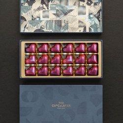 18 Chocolate Water Ganache Love Heart Truffles with Congo Single Origin 70% Chocolate (Vegan)