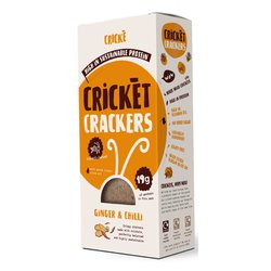 3 x Ginger & Chilli Cricket Crackers High Protein Snack 85g