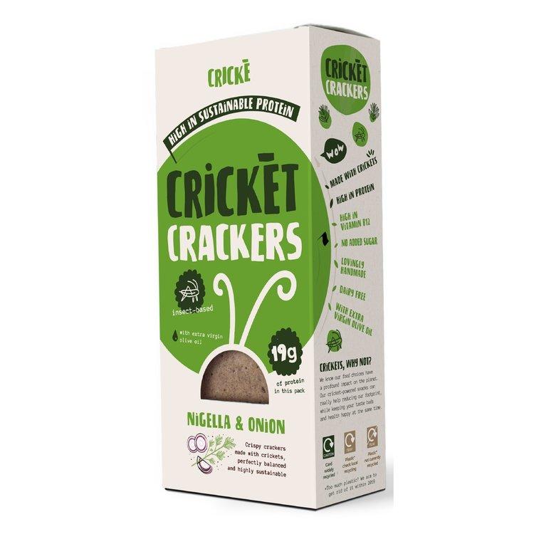 3 x Nigella & Onion Cricket Crackers High Protein Snack 85g