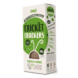 3 x Nigella & Onion Cricket Crackers High Protein Snack 85g
