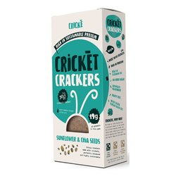 3 x Sunflower & Chia Seed Cricket Crackers High Protein Snack 85g