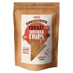 3 x Chilli & Cricket Tortilla Chips High Protein Snack 100g (Gluten-Free)
