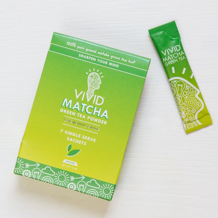 Organic Ceremonial Matcha Green Tea Powder Drink Sachets (7 x 1g)