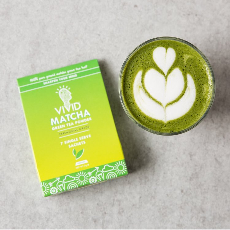 Case of 56 Servings Organic Ceremonial Matcha Green Tea Powder Sachets (56 x 1g Single Serve)