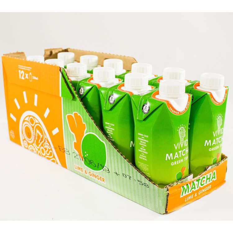 12 Lime & Ginger Ready To Drink Matcha Green Tea (12 x 330ml)