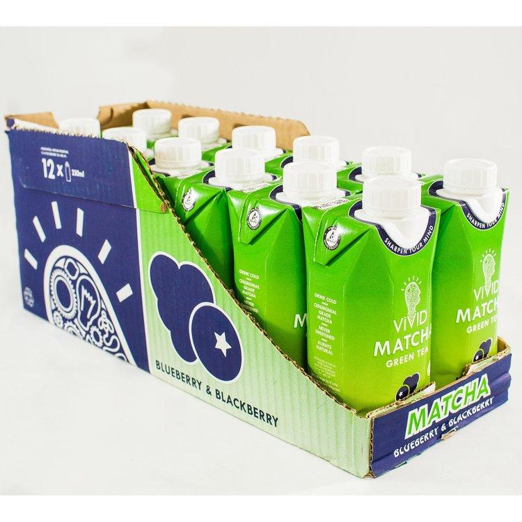 12 Blueberry & Blackberry Ready To Drink Matcha Green Tea (12 x 330ml)