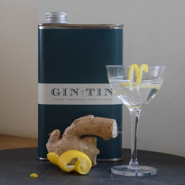 Ginger, Angelica Root & Lemon Peel 'No. 13' Gin In A Tin 50cl