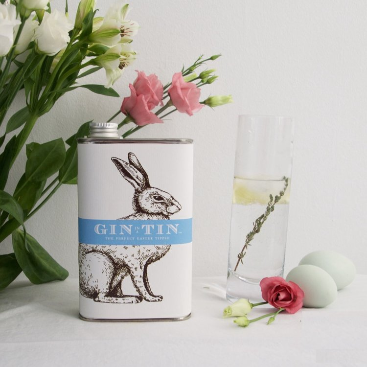 'Easter Rabbit' Lemon Peel, Coriander & Cardamom Gin In A Tin 50cl
