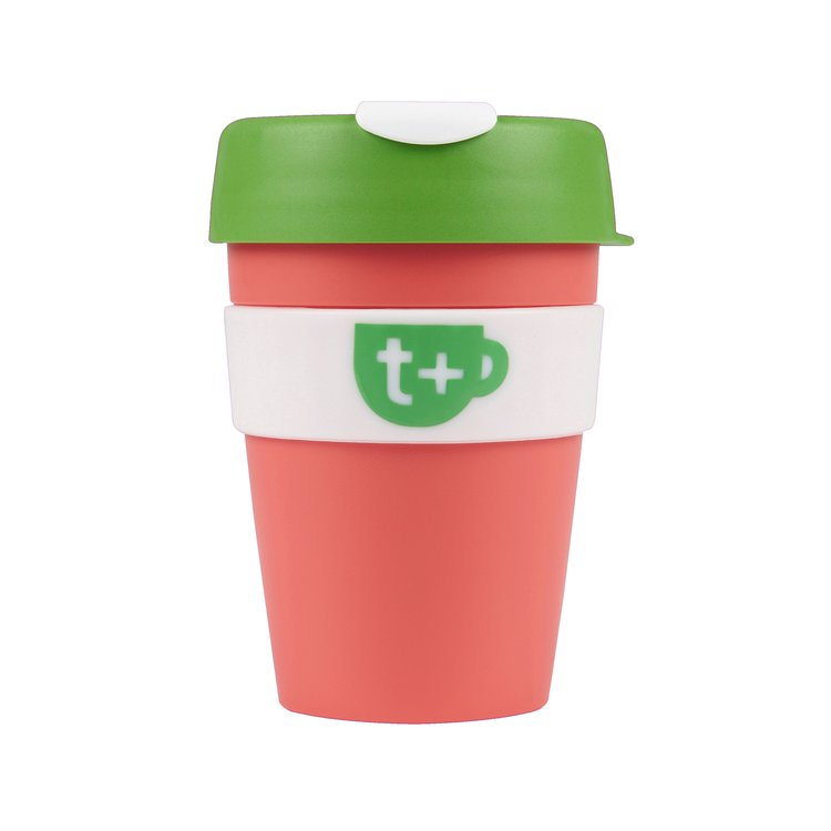 Pink Smart Reusable Tea & Coffee Travel Cup with Lid 340ml