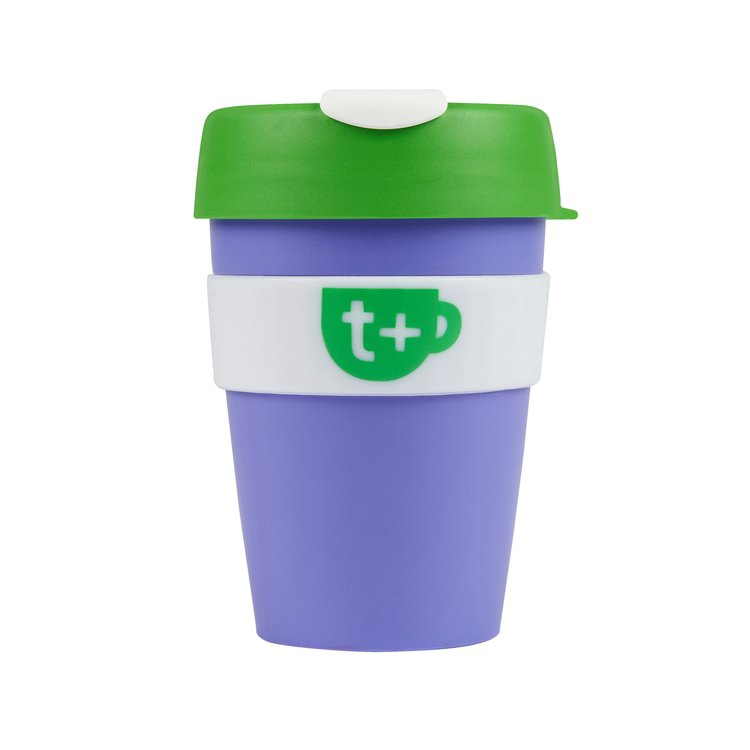 Purple Smart Reusable Tea & Coffee Travel Cup with Lid 340ml